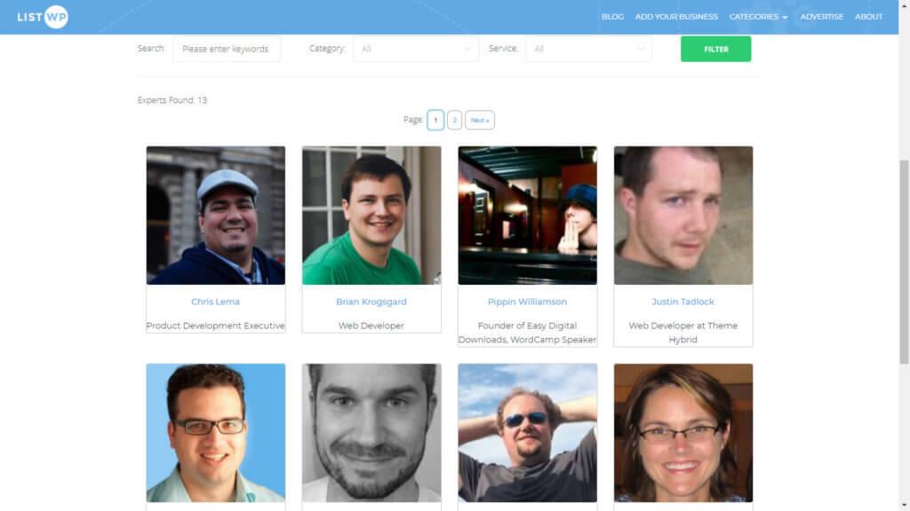 Member and Expert Directory Plugin - Tile View