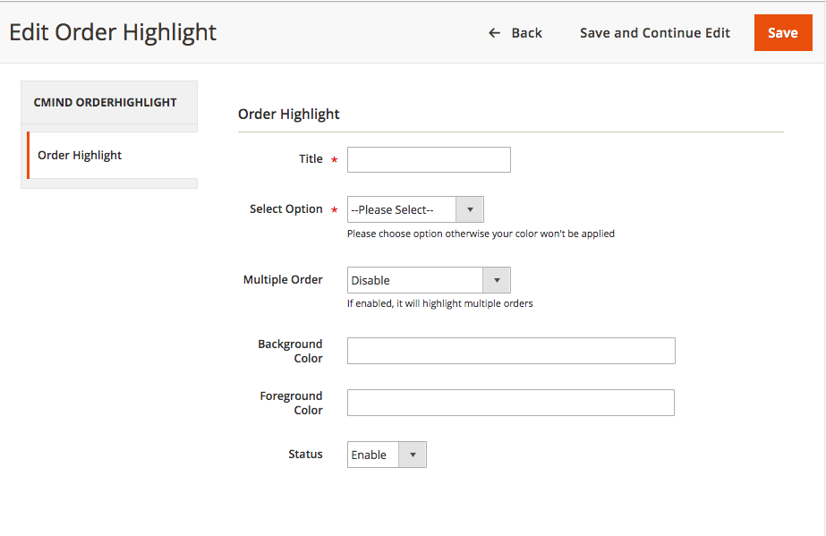 Magento Order Highlighter Magento 2