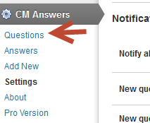 Remember to check back often for more updates to our wordpress plugins. Here you can see how to moderate questions and answers by logged in users to your wp website or blog.