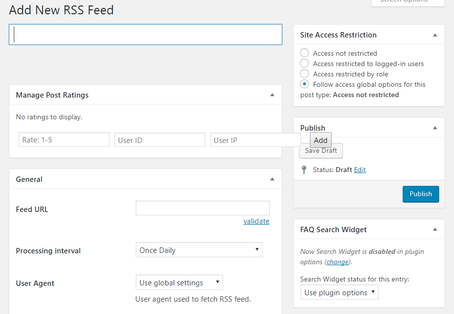 Add New RSS Feed - RSS to post feed sources - RSS Post - RSS Feed Plugin for WordPress