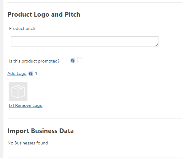 Add New Product-Product Logo & Pitch