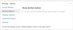 Decline Button