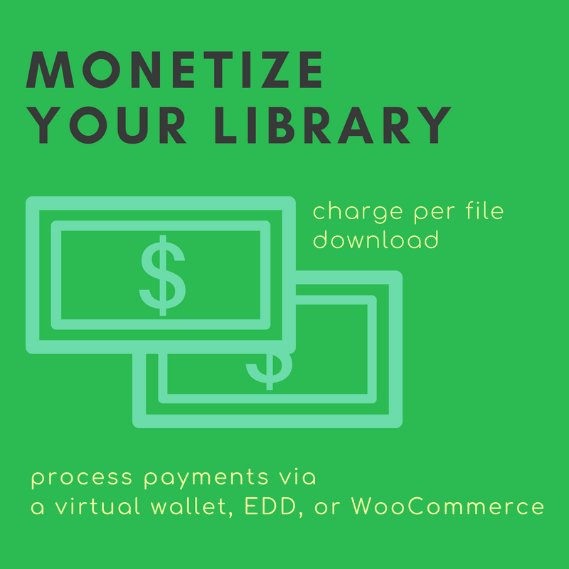 Charge membership fees for access to your online library