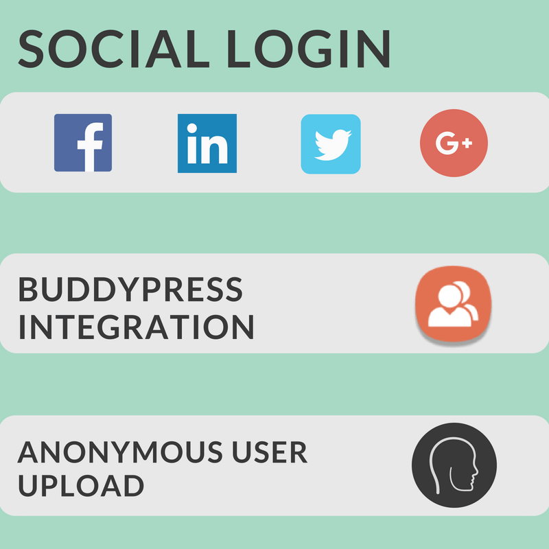 Social login and BuddyPress integration make user account setup a breeze
