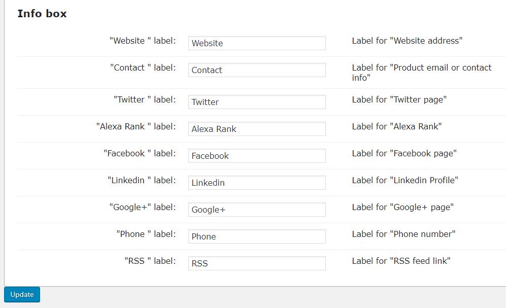 Labels-Info Box