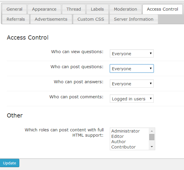 CM Answers Extended Access Conrol let Admin define if anonymous user can post - Advanced access control - Anonymous Users Can Now Publish Posts on CM Answers Forum Sites