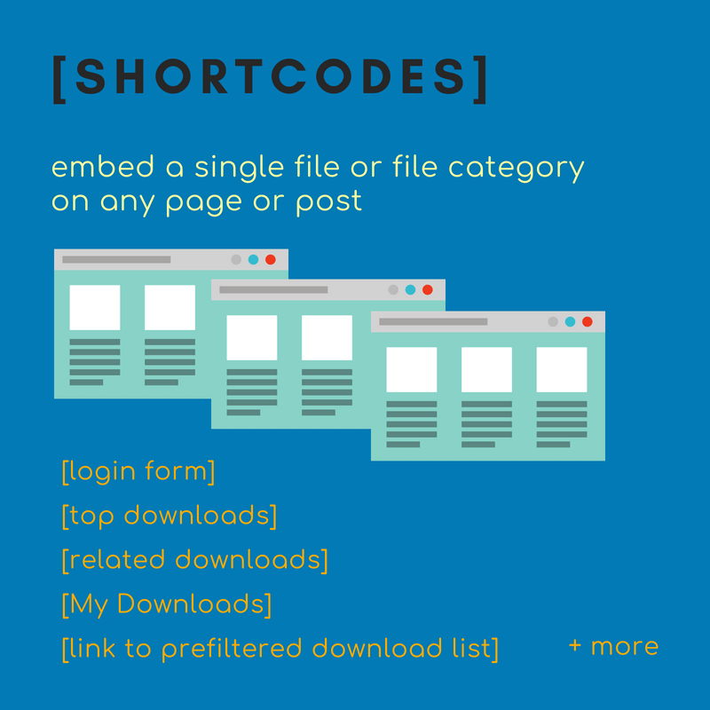 Choose from a large list of download manager widgets and shortcodes