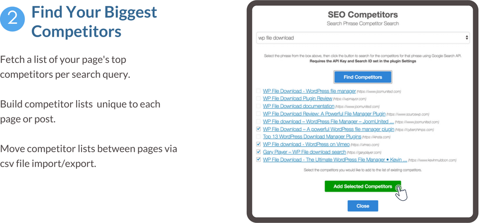 Find your biggest competitors feature banner - fetch a list of your top competitors