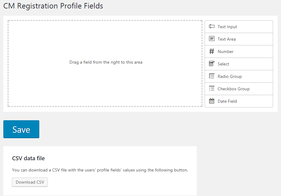 Registration Profile Fields - profile builder