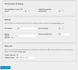 Settings-Performance,Backup,Referrals