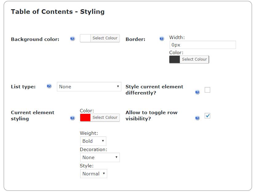 Impressive table of contents toc wordpress plugin for Table design wordpress plugin