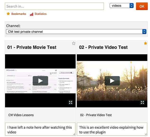 video lessons E learning webinar management plugin for WordPress
