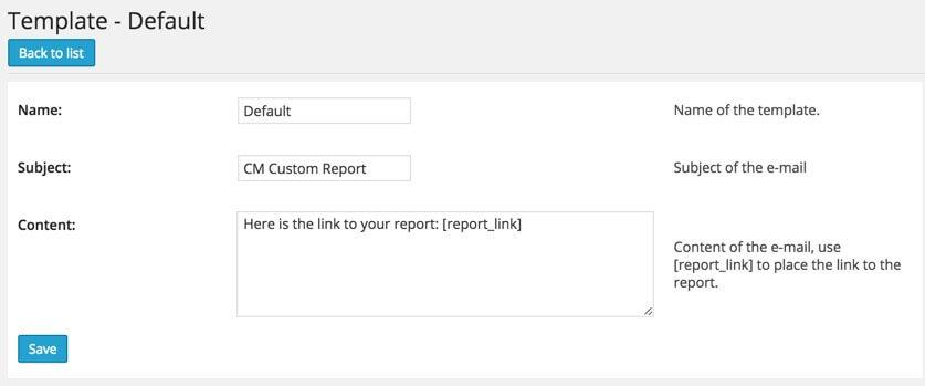 WordPress Custom Reports plugin by CM Plugins- email Templates - New WordPress Custom Reports Plugin Will Help You Improve Work Efficiency