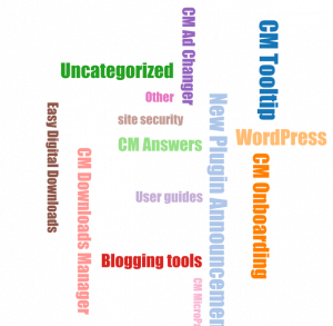 WordPress forum Widgets- CM Answers Widget Word Cloud