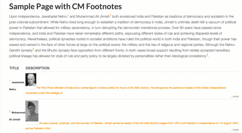 Footnotes Plugin for WordPress by CreativeMinds