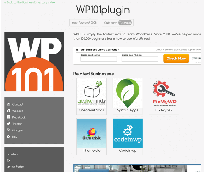 New Business Directory Plugin for WordPress Released by CreativeMinds