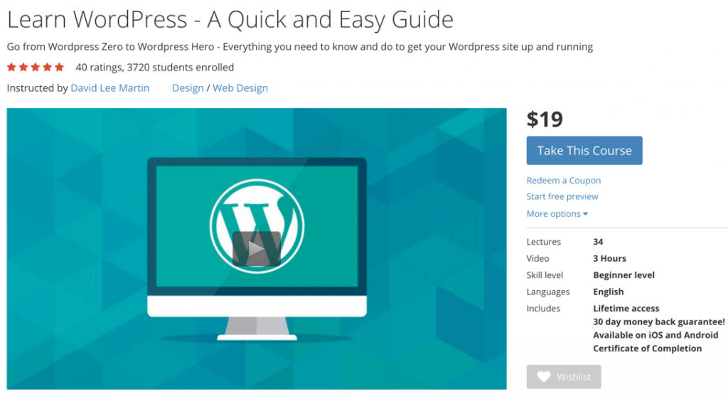Udemy - WordPress Online Tutorials for Beginners and Advanced Users