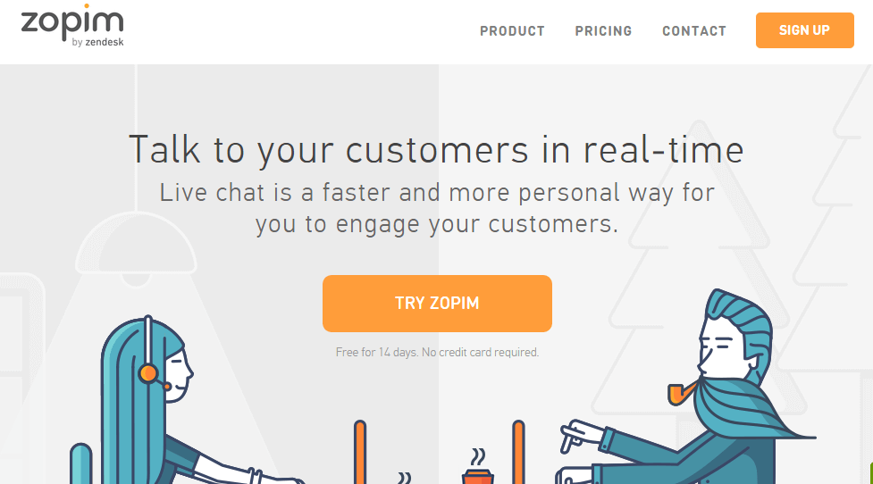 Zopim - Give Support - Ultimate Guide to SAAS Services for your WordPress Site