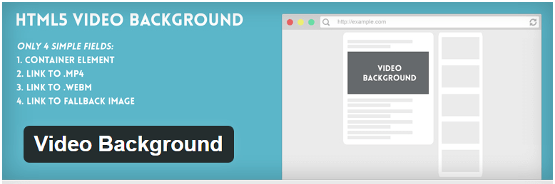 Video Background - 14 New Plugins to Make your WordPress Site Look Great