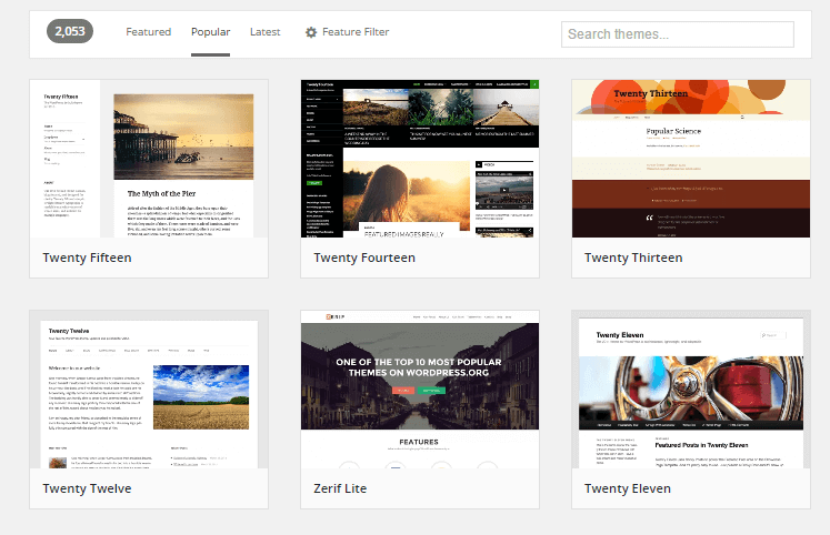 Popular themes on WordPress.org - Guide and Tools to Choose the Best WordPress Theme for your Site