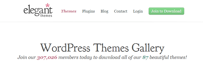 ElegantThemes screenshot - Guide and Tools to Choose the Best WordPress Theme for your Site