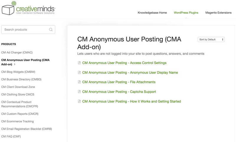 Doc articles for CM Anonymous User Posting - Top 5 Magento 1 Marketplace Extensions in 2020