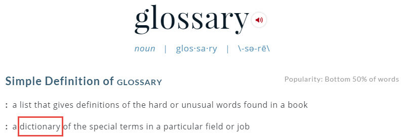 Definition from Merriam-Webster Build Glossary WordPress - How to Build a Glossary in WordPress