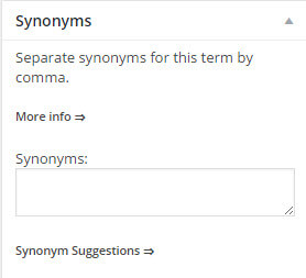 Adding term synonyms Build Glossary WordPress - How to Build a Glossary in WordPress
