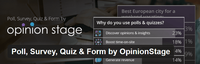 OpinionStage Polls, Surveys, and Quizzes - 12 WordPress Plugins to Create Stellar Content & Drive Traffic