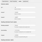 Plugin labels settings
