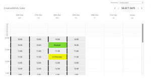 Booking calendar demo banner