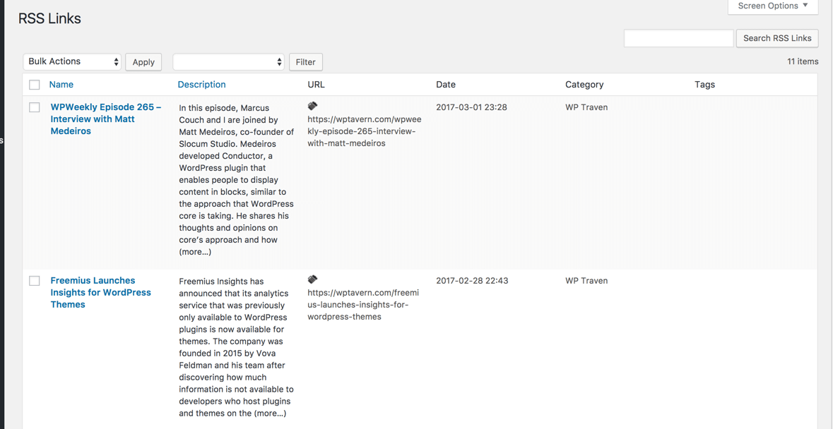 RSS Aggregator Plugin for WordPress   Curated Lists and Multiple Feeds