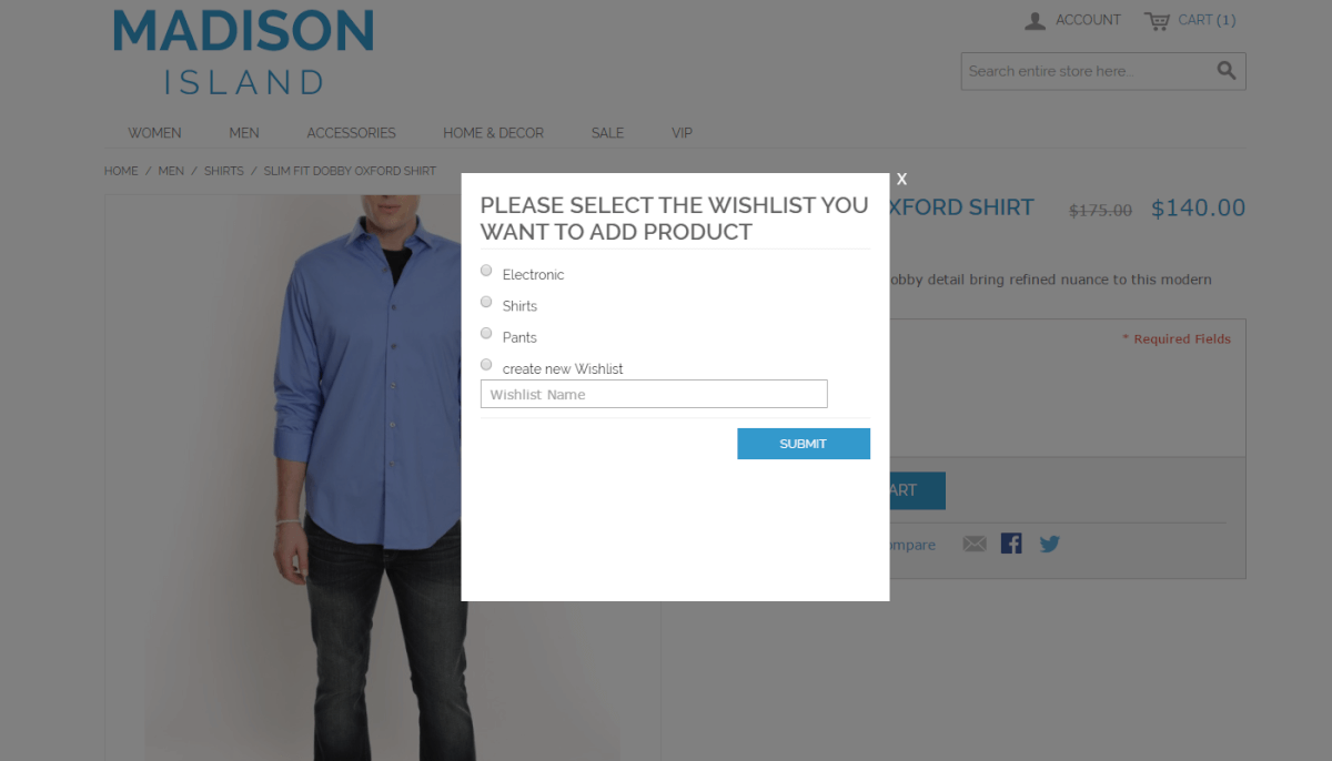 Multiple Wishlist Extension for Magento 1 by CreativeMinds