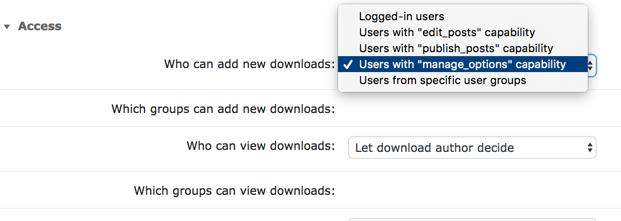 Global Plugin Access Settings