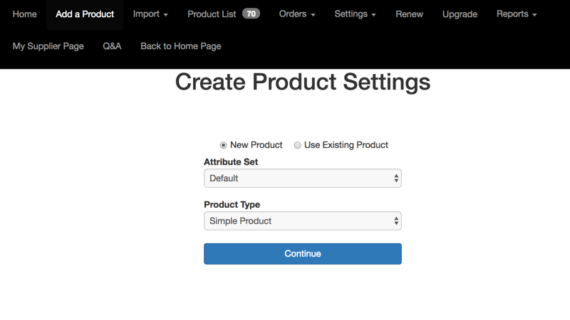 Adding Products