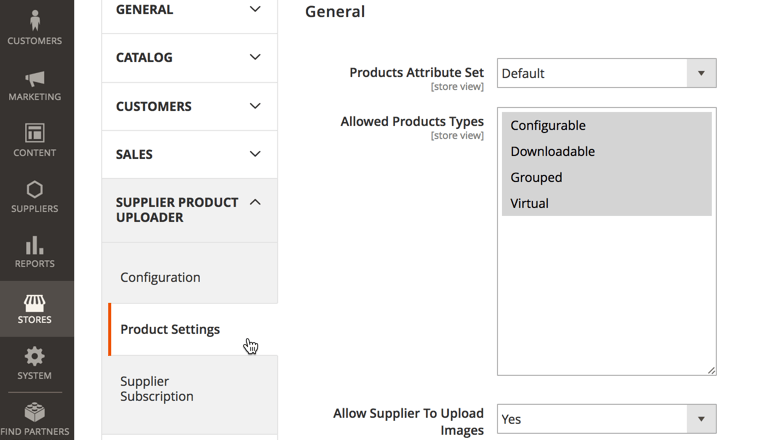 Product Settings