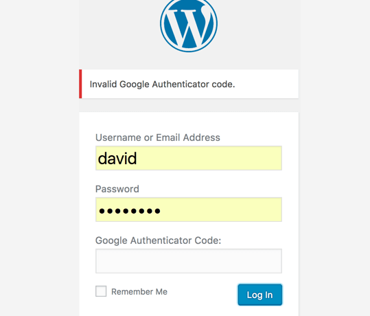 WordPress registration form requiring a Google Authenticator code - Top WordPress Security Trends for 2020 (Plus Tips on Staying Secure!)