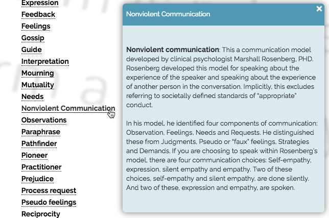 Tooltip Glossary Index View Communication Customer Story