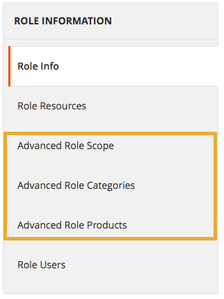 The three new role options are highlighted