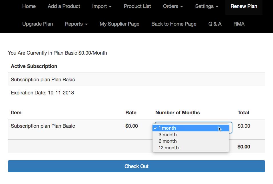 Magento Marketplace Vendor Panel - Subscription Management