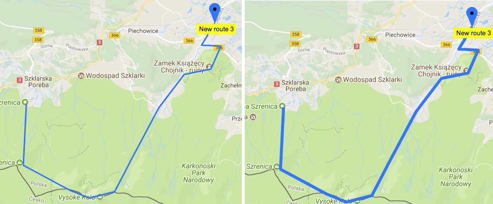 Users can now customize the route track width