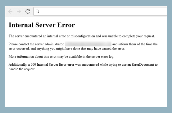 Common WordPress Errors Internal Server Error