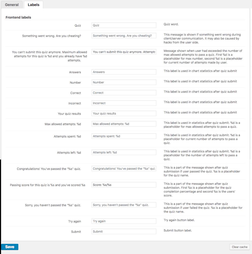 Quiz Manager Plugin For WordPress