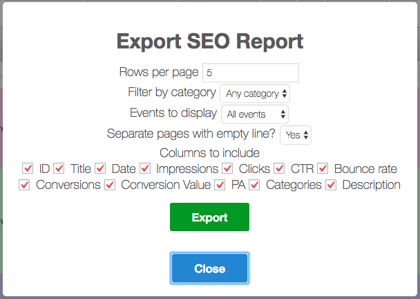 Export-SEO Keyword Hound: Boost Productivity With Reports and Categories