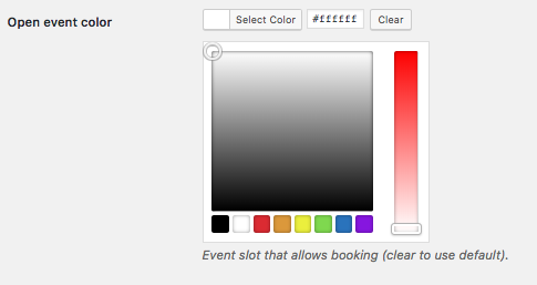Booking events - Color picker