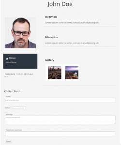 Form - Expert page with contact form