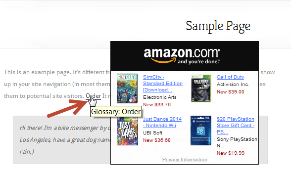Glossary eCommerce plugin for WordPress - Overview of the Glossary eCommerce Plugin For WordPress