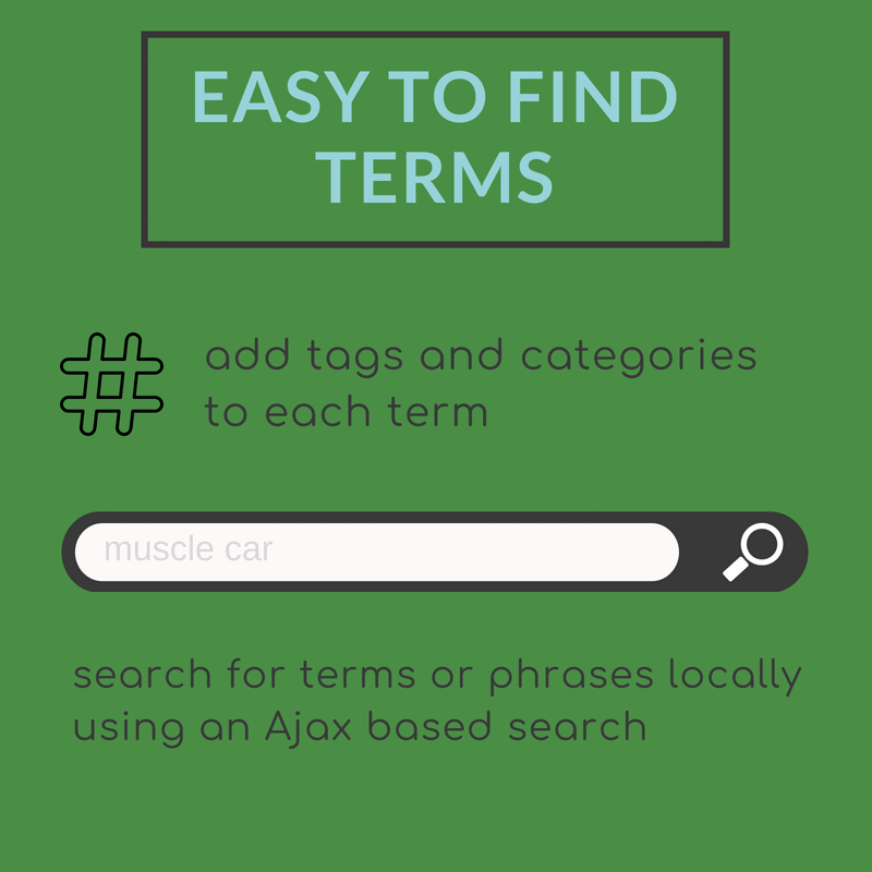 Search glossary terms to quickly find definitions