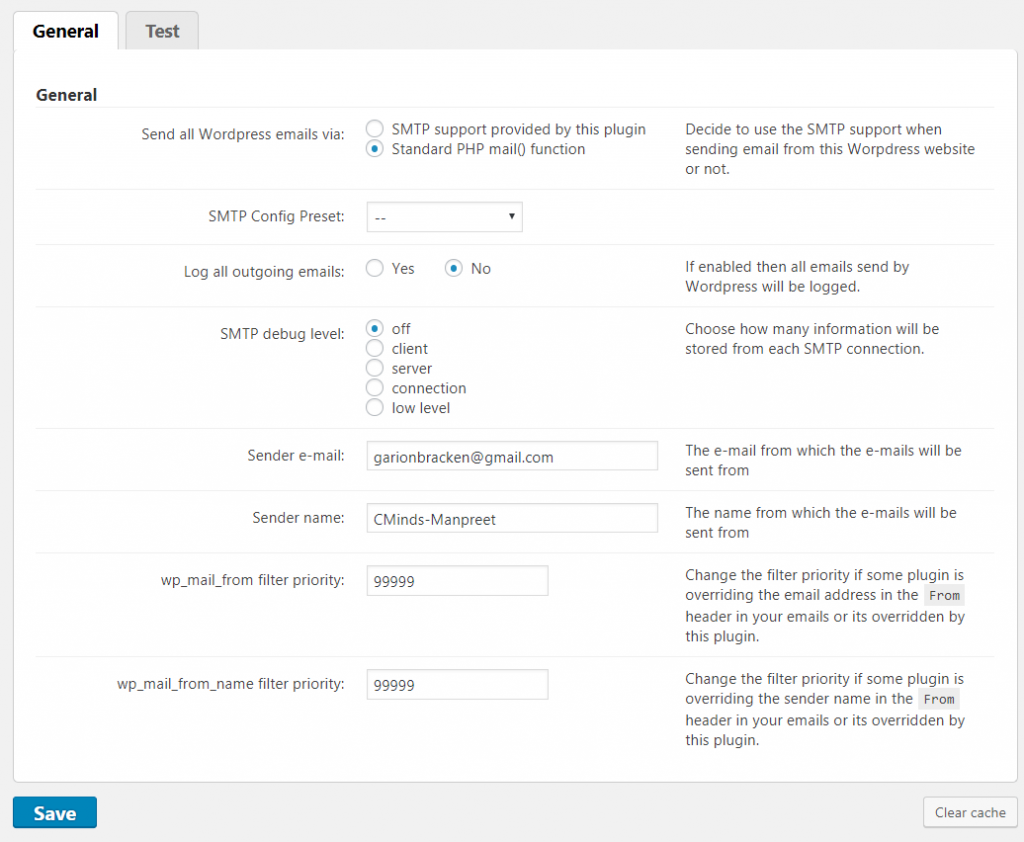 how to add a new email address to wordpress word