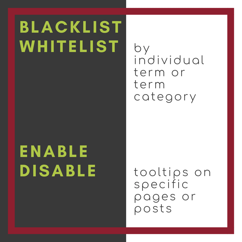 The flexible encyclopedia plugin lets you blacklist or whitelist specific terms